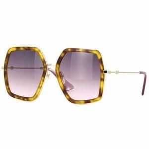 Gucci Square Sunglasses W/Grey Gradient Lens